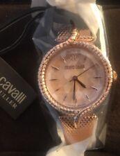 Roberto Cavalli Women's RV2L012M0086 SNAKE LUGS Diamond Rose-Gold IP Steel Watch