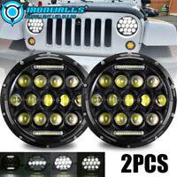 7'' Round LED Headlights Fit Jeep Wrangler Custom Unlimited Sport JK TJ LJ CJ