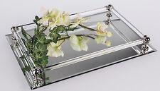 ☼ Formano Spiegeltablett mit Facettenschliff ca. 37x25 cm Spiegel Tablett 889416