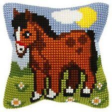 "Pony Cushion Cover 10"" x 10"" Cross Stitch Kit"