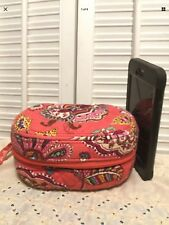 Vera Bradley Call Me Coral Zip Around Jewelry Travel Case Box Retired Small