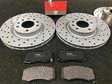 VAUXHALL CORSA VXR NURBURGRING FRONT BRAKE DISC BRAKE PADS CROSS DRILLED GROOVED