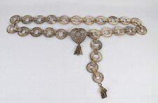 Antique Middle East Ottoman Islamic Solid Silver Filigree Belt