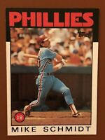 1986 Topps Mike Schmidt Card #200 NM/MINT - Phillies HOF