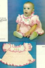 New listing Sweet Winter Ruffled Baby Dress/Crochet Pattern Instructions Only