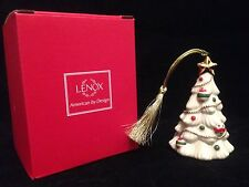 "*Euc* Lenox Very Merry Porcelain Ornaments Christmas Tree (approx. 4"" tall)"