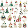 10PCS XMS Enamel Charm Christmas Tree/Snowman/Santa Claus/Moon Beads Pendant