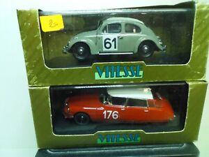 1/43 LOT VITESSE RALLYE CITROEN DS + VW VOLKSWAGEN COCCINELLE