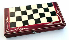 "Wooden Chess&backgammon Set Traditional Strategy Board Games 12 5"" Wide 32 Cm"