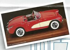 FRANKLIN MINT 1957 CORVETTE 1:43 SCALE / WITH REMOVABLE ROOF / NEVER OUT OF BOX