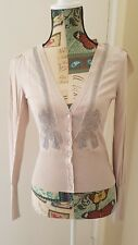 Portman's dusty pale pink knit cardigan with embellishments size S