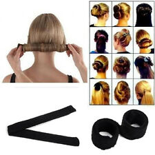 2pcs Hair Updo Wrap Fold Snap French STYLE Bun Maker Hair Magic Styling Tool Hot
