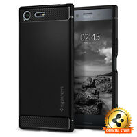 Spigen® Sony Xperia XZ Premium [Rugged Armor] Shockproof Black TPU Case Cover
