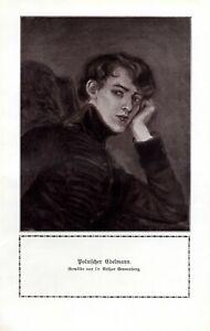 Polish nobleman 1911 German art print by Arthur Grunenberg * in Kaliningrad
