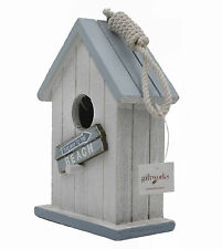 Shabby Chic Nautical Style Bird House / Bird Box - Beach (5813)