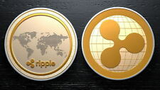 1X Gold & Silver Ripple Commemorative Round Collectors Coin XRP Coins With Box