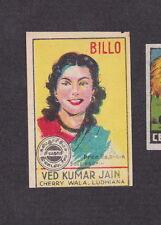 ancienne étiquette allumettes Inde  BN13603 Femme Billo