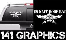 US Navy Roof Rat AT Aircraft Carrier Flight Deck Crew Veteran Car Decal Sticker