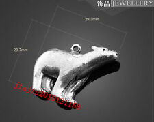 PJ564 5pc Retro Tibetan Silver  polar bear Jewelry Accessories wholesale