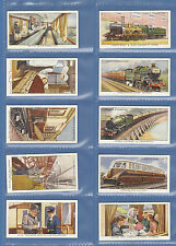 OGDENS  LTD.  -  RARE  SET  OF  50  MODERN  RAILWAYS  CARDS  -  1936