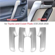 4x Car Interior Door Handle Trim Cover for Toyota Land Cruiser Prado J150 10-18