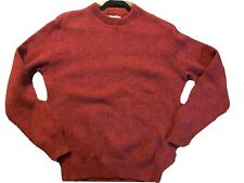 vtg LL Bean Norwegian Sweater Wool Red Crewneck Made in USA Men's SZ XL