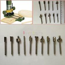 "10pcs Router Bit Kit Magic Steel Starter Set 1/8"" Shank 3mm Keyhole Tool US YU"