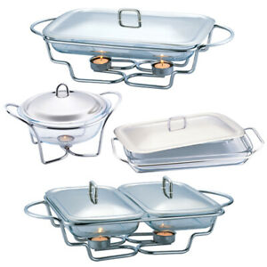 Berlinger Haus Stainless Steel Food Warmer Hot Plate Tray Candle Buffet Server