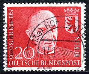 Germany-Berlin 9N164, Used. Prof. Otto Suhr, Mayor of berlin, 1958