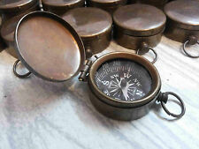 Vintage Brass Lot Of 25 Pcs Compass Nautical Lid Compass