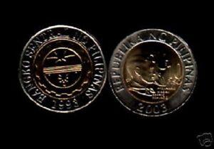 PHILIPPINES 10 PESOS KM-278 2003 x 10 Pcs BI METAL UNC COIN LOT CURRENCY MONEY