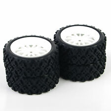 73mm Rubber Tires Wheel Rims 12mm Hex 4Pcs For 1/10 RC Rally Racing Off Road Car