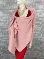 BCBG Maxazria Cashmere Wrap Cardigan Sweater 4 6 US 40 42 IT S Pink Runway Auth