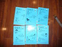 USED LOT OF 6 BEGINNERS BOOKS UNIT 1-6 JL LANGUAGE READERS KINDERGARTEN TEACHER