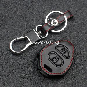 Car Key Case Leather Key Holder For Toyota Hilux Rav4 Yaris Camry Corolla Red
