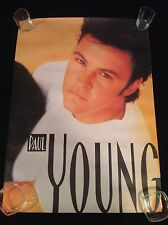 Paul Young 1990 Cbs Records Pop Music Color Poster