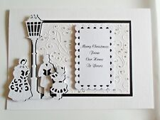 Personalised Handmade Christmas Card Carol singers with Box