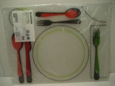 NEW Set of 4 Ikea Plastic Placemats by Designer Marit Kloostra