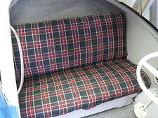 Fabric Seat Check Classic Car Bug Goggo Dixi Mini Cooper Taunus 2CV DKW Junior