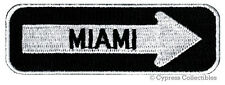 MIAMI ONE-WAY SIGN EMBROIDERED IRON-ON PATCH applique FLORIDA SOUVENIR ROAD