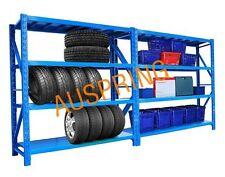 4M - 1600KG Shelves Steel Warehouse Garage Storage Shed Shelving Racking Office