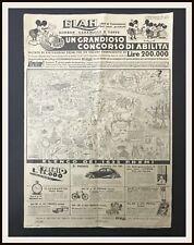 GRANDIOSO CONCORSO ABILITÁ - Figurine Elah Premio Topolino - 1936 - DISNEYANA.IT
