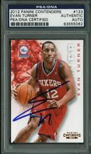 76Ers Evan Turner Authentic Signed Card 2012 Panini Contenders #133 PSA Slabbed