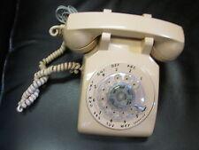 Vintage ITT Rotary Telephone with Handset Beige, works