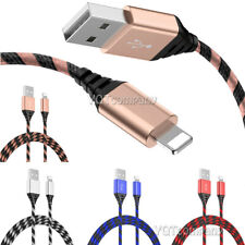 2 Pack Long Cable Heavy Duty Charger Charging for iphone 8 7 6 Plus 11 Pro Max X