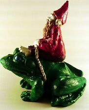 Gnome Riding a Frog - Hand Painted - 3D Printed Plastic
