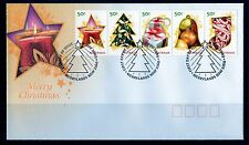 2009 Australia Merry Christmas Strip Of 5 FDC, Mint Condition