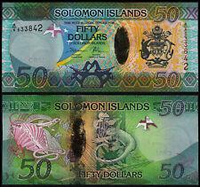 SOLOMON ISLANDS 50 DOLLARS (P35) N. D. (2013) PREFIX A/6 UNC
