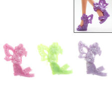 8 Pair Barbie Shoes Butterfly Wings Design Doll Shoes Barbie Dolls Accessory PL
