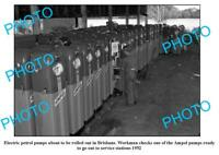 OLD 8x6 PHOTO AMPOL OIL COMPANY PETROL PUMPS BEING BUILT c1952